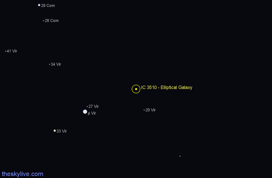 Finder chart IC 3510 - Elliptical Galaxy star