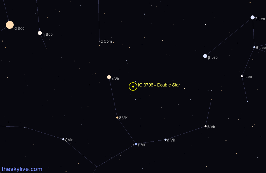 Finder chart IC 3706 - Double Star star