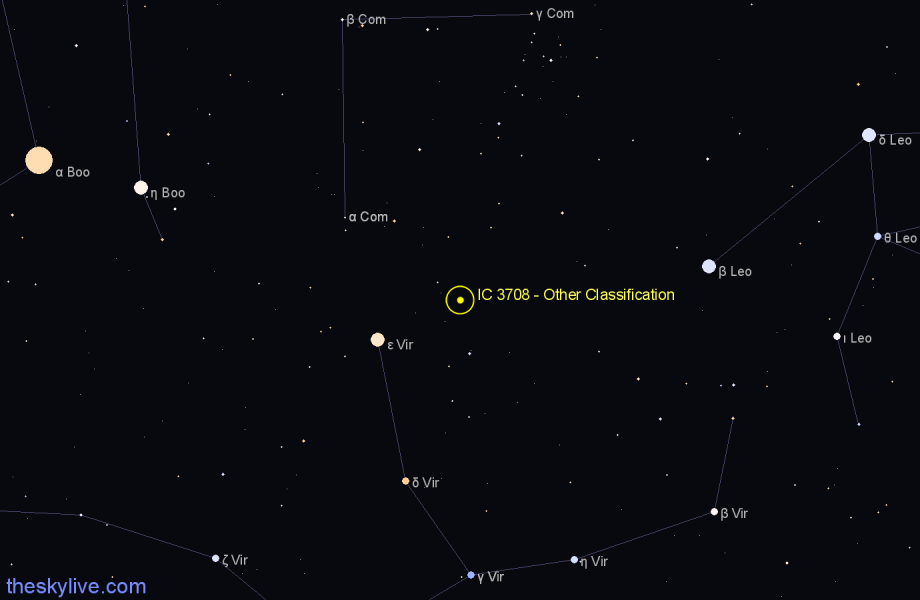 Finder chart IC 3708 - Other Classification star