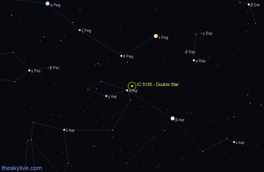 Finder chart IC 5155 - Double Star star