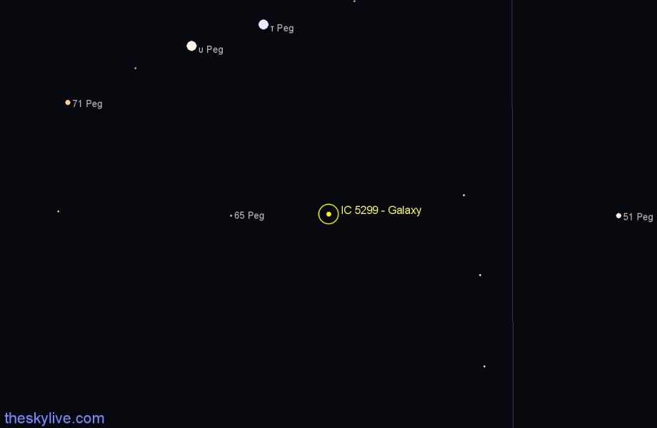 Finder chart IC 5299 - Galaxy star