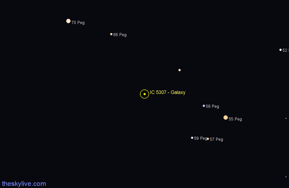 Finder chart IC 5307 - Galaxy star
