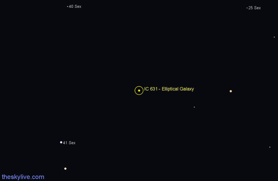 Finder chart IC 631 - Elliptical Galaxy star