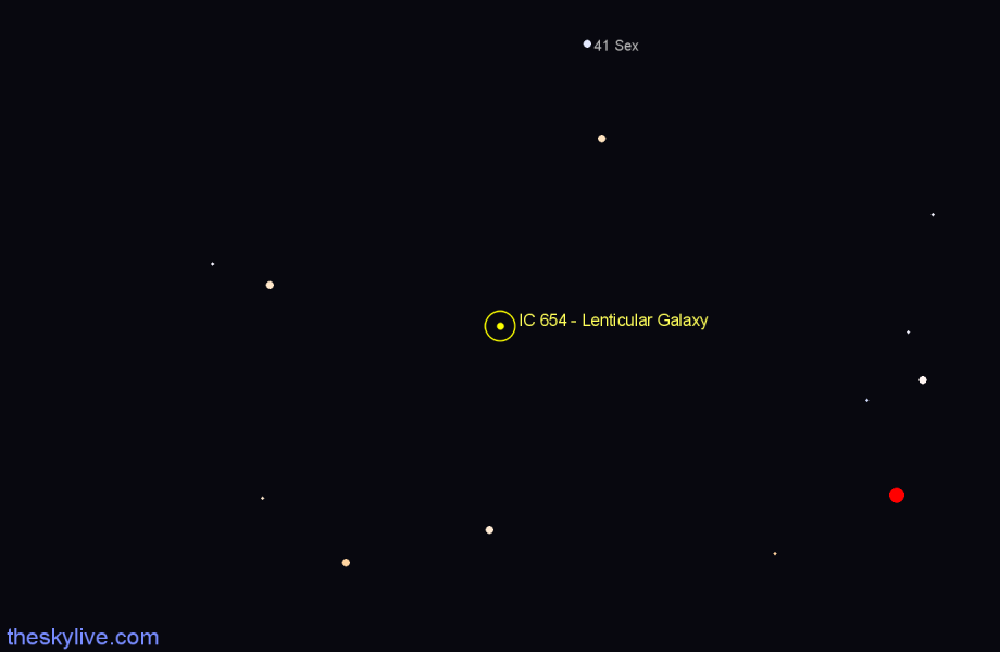 Finder chart IC 654 - Lenticular Galaxy star