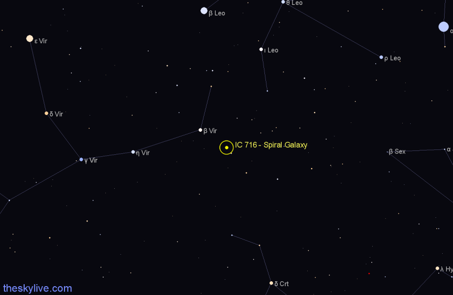 Finder chart IC 716 - Spiral Galaxy star