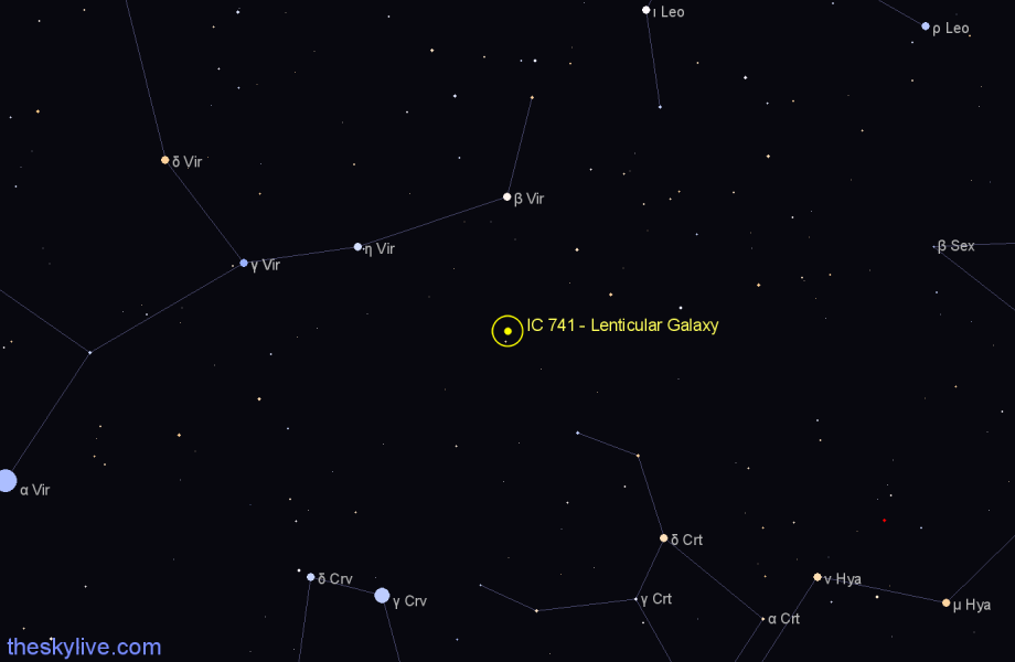 Finder chart IC 741 - Lenticular Galaxy star
