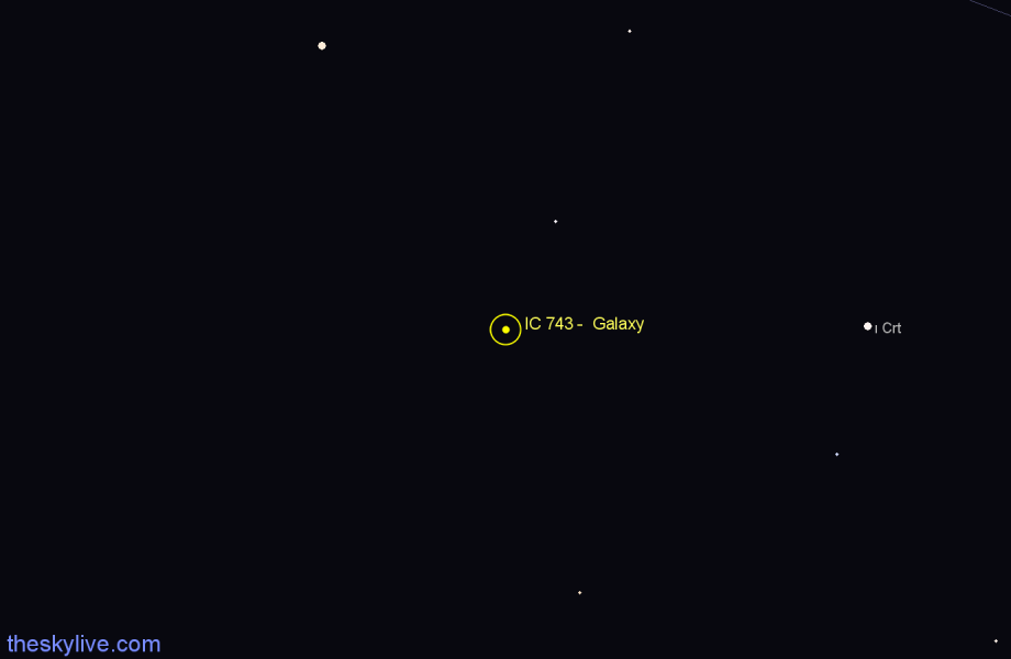 Finder chart IC 743 -  Galaxy star