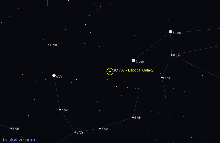 Finder chart IC 767 - Elliptical Galaxy star
