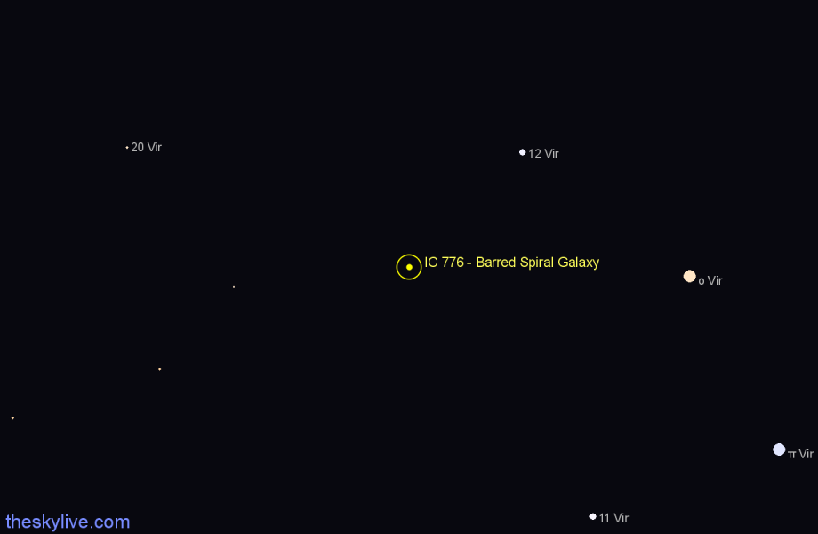 Finder chart IC 776 - Barred Spiral Galaxy star