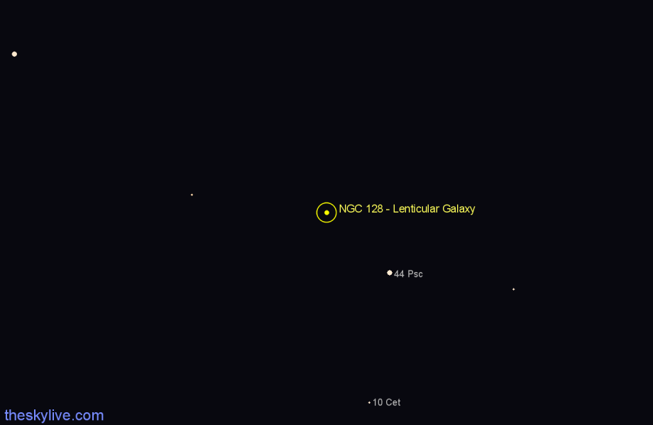 Finder chart NGC 128 - Lenticular Galaxy star