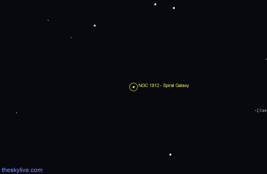 Finder chart NGC 1812 - Spiral Galaxy star