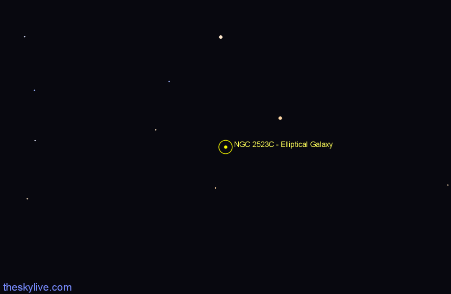 Finder chart NGC 2523C - Elliptical Galaxy star
