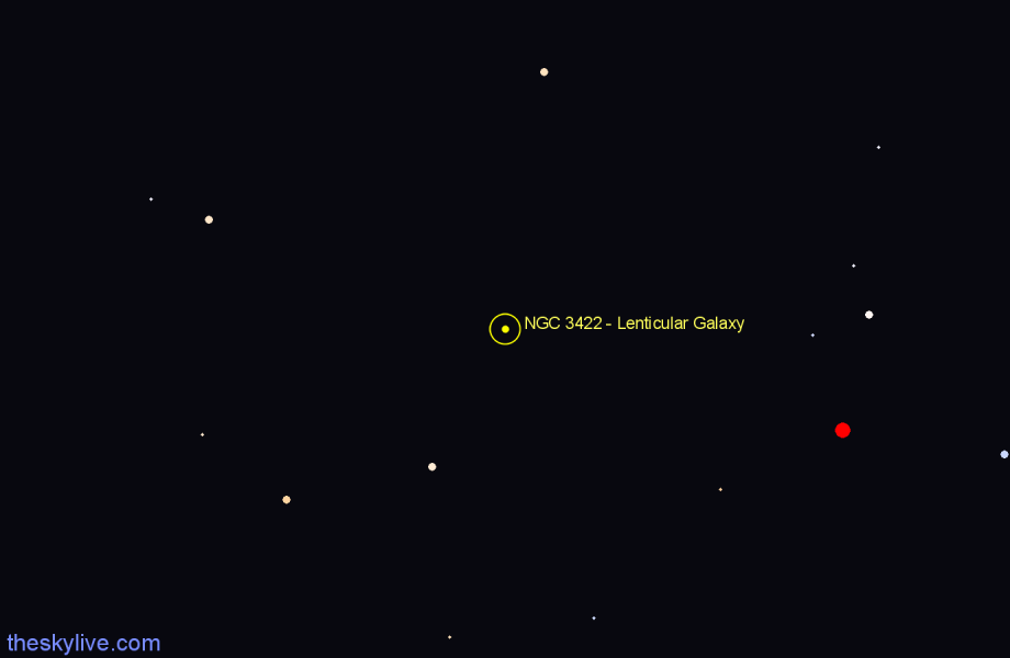 Finder chart NGC 3422 - Lenticular Galaxy star
