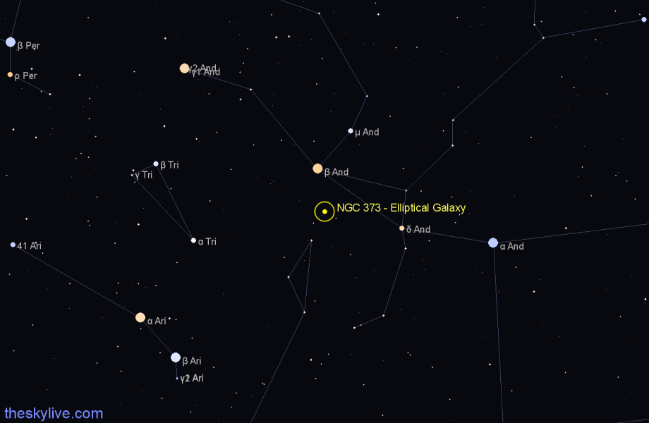 Finder chart NGC 373 - Elliptical Galaxy star