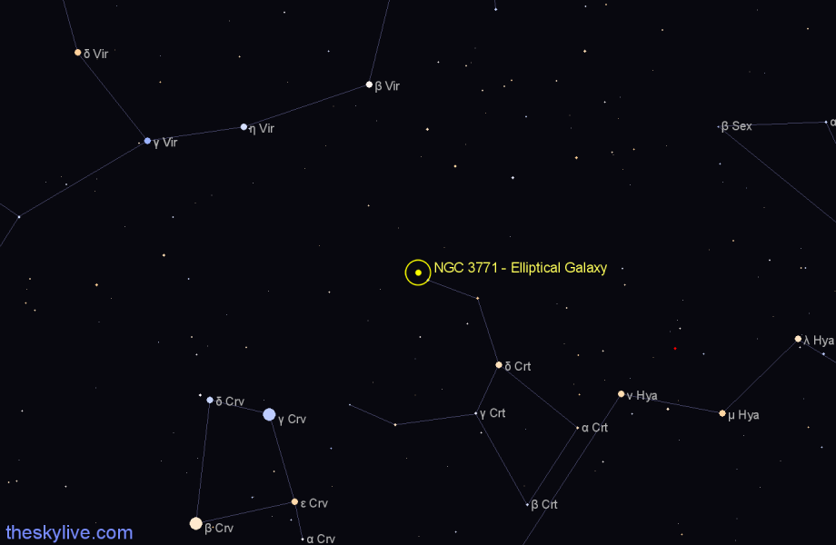 Finder chart NGC 3771 - Elliptical Galaxy star