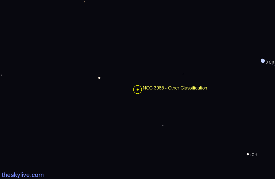 Finder chart NGC 3965 - Other Classification star