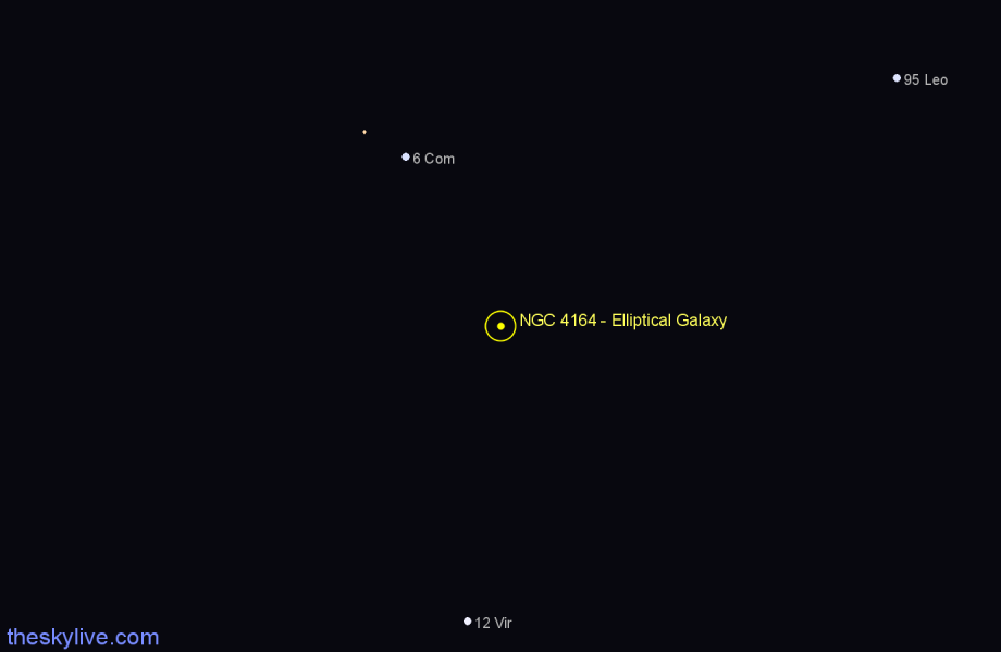 Finder chart NGC 4164 - Elliptical Galaxy star