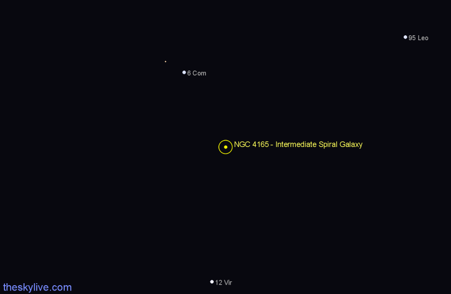 Finder chart NGC 4165 - Intermediate Spiral Galaxy star
