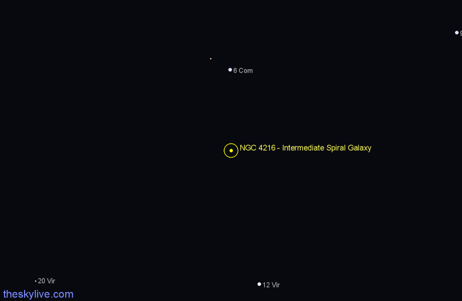 Finder chart NGC 4216 - Intermediate Spiral Galaxy star