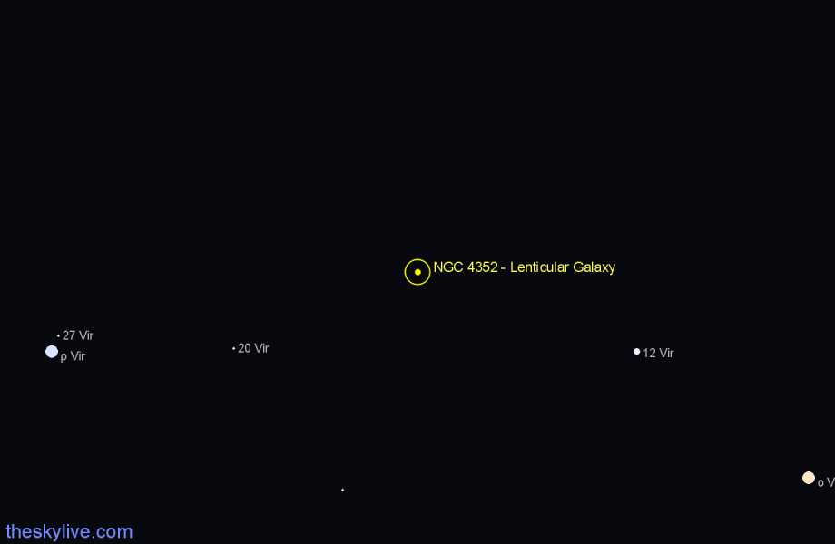 Finder chart NGC 4352 - Lenticular Galaxy star