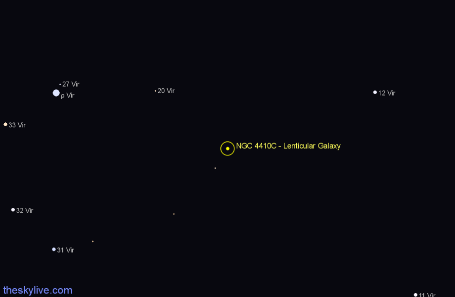 Finder chart NGC 4410C - Lenticular Galaxy star