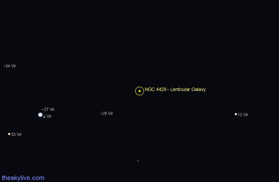 Finder chart NGC 4429 - Lenticular Galaxy star
