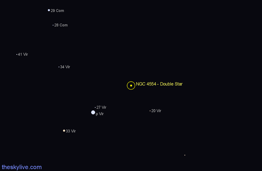 Finder chart NGC 4554 - Double Star star