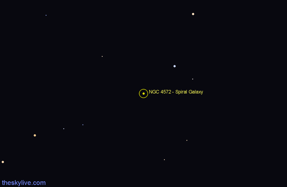 Finder chart NGC 4572 - Spiral Galaxy in Draco star