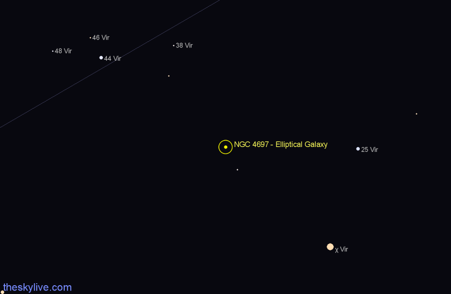 Finder chart NGC 4697 - Elliptical Galaxy star