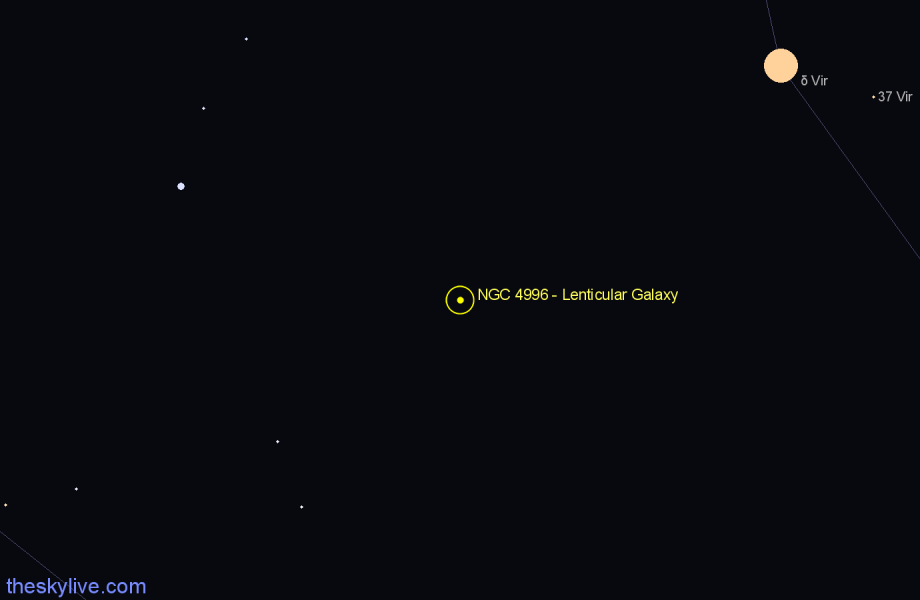 Finder chart NGC 4996 - Lenticular Galaxy star