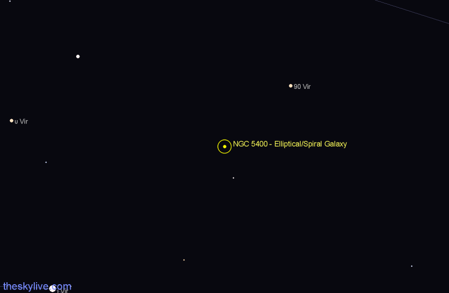 Finder chart NGC 5400 - Elliptical/Spiral Galaxy star