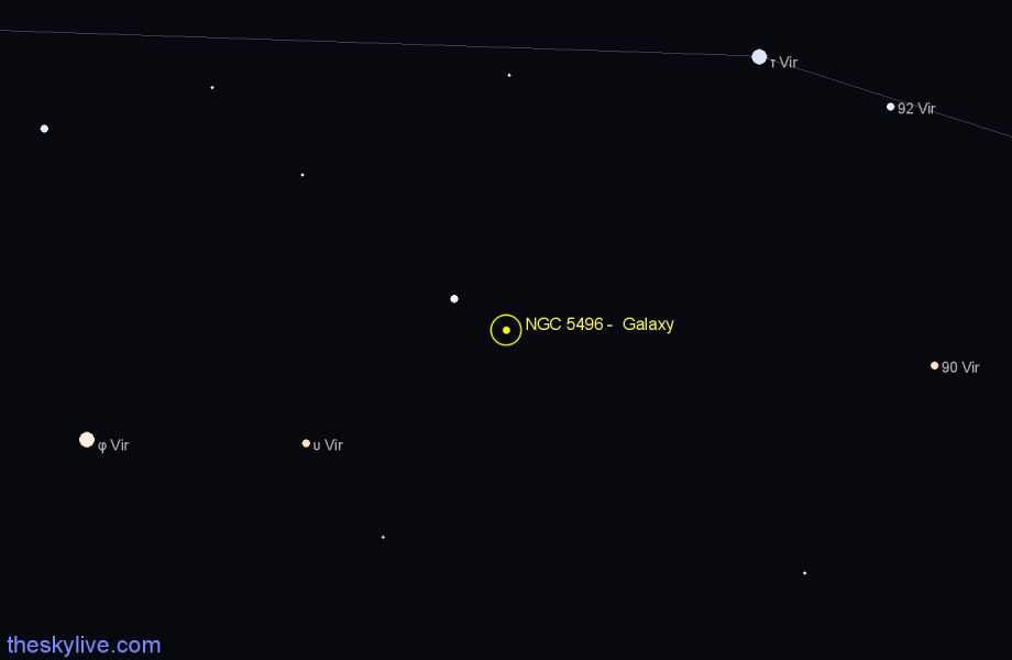 Finder chart NGC 5496 -  Galaxy star