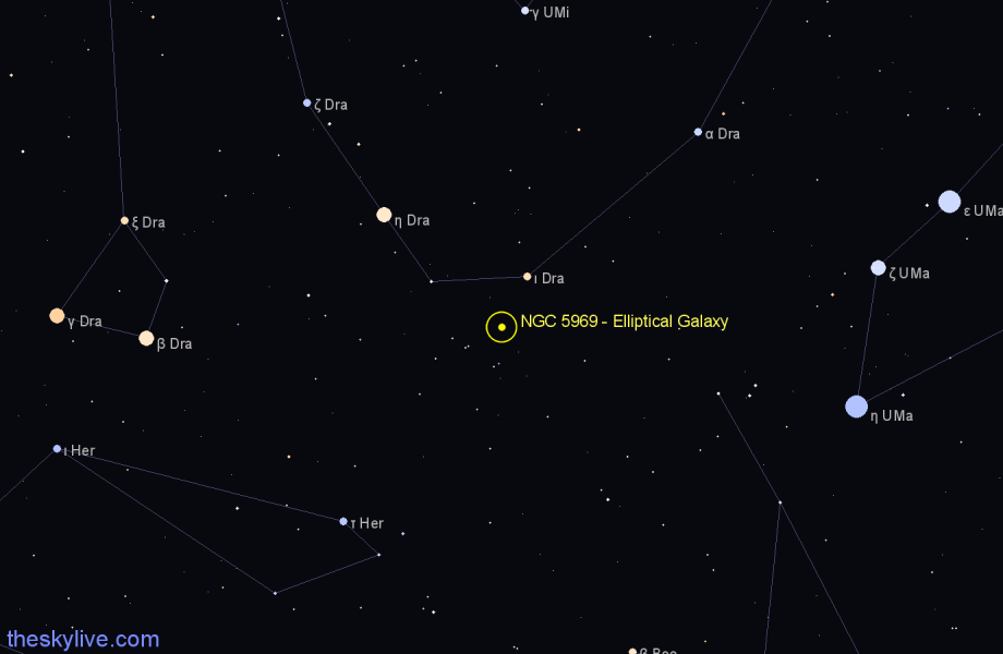 Finder chart NGC 5969 - Elliptical Galaxy star