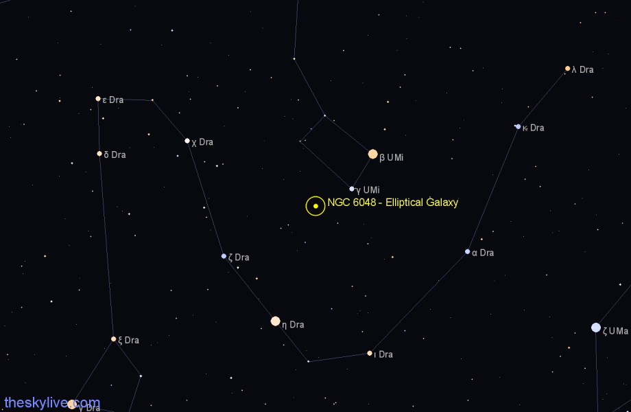 Finder chart NGC 6048 - Elliptical Galaxy in Ursa Minor star
