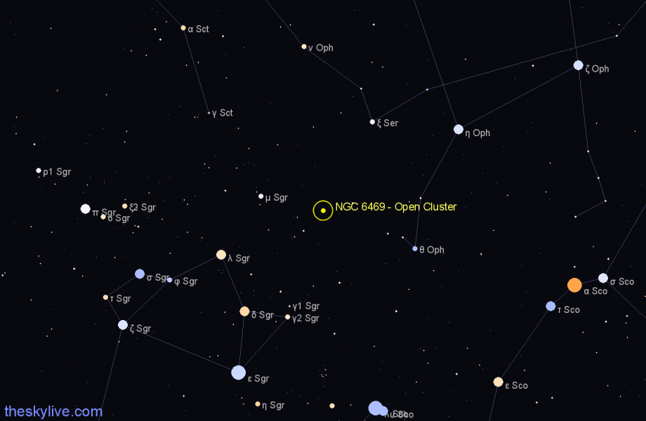 Finder chart NGC 6469 - Open Cluster star