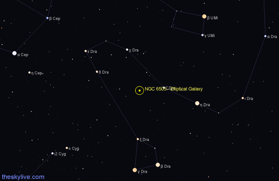 Finder chart NGC 6505 - Elliptical Galaxy star