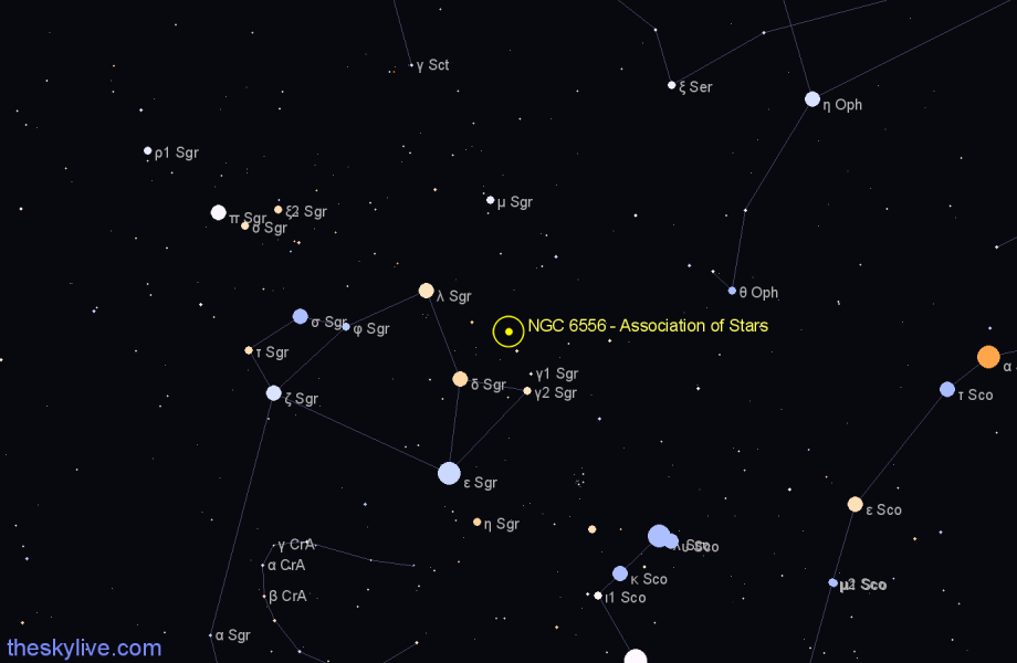 Finder chart NGC 6556 - Association of Stars star