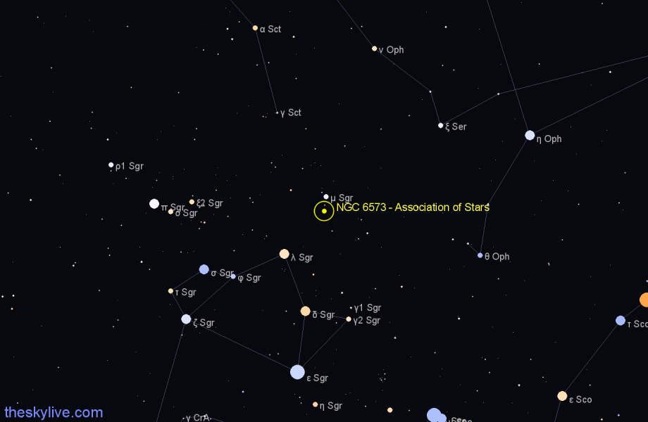 Finder chart NGC 6573 - Association of Stars star