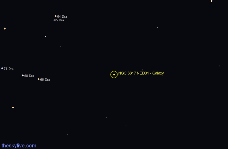Finder chart NGC 6817 NED01 - Galaxy star