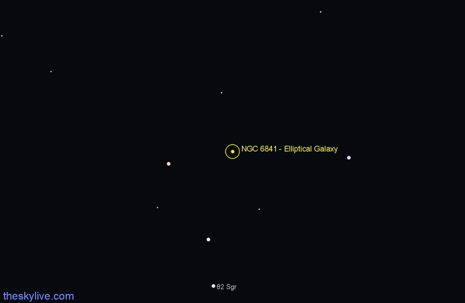 Finder chart NGC 6841 - Elliptical Galaxy star
