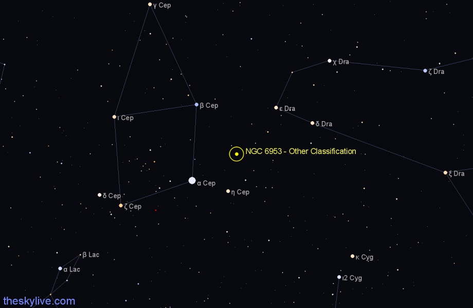 Finder chart NGC 6953 - Other Classification in Cepheus star