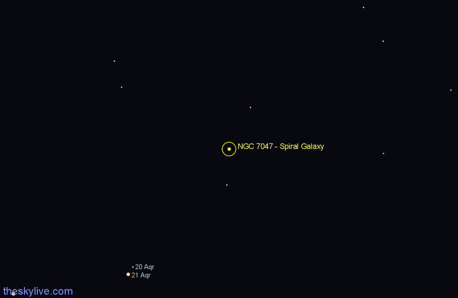 Finder chart NGC 7047 - Spiral Galaxy star