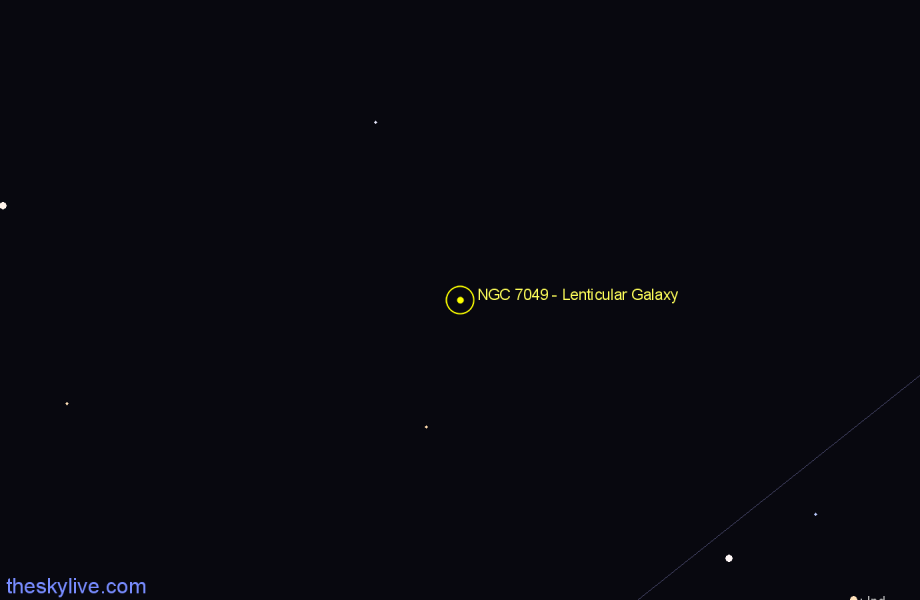 Finder chart NGC 7049 - Lenticular Galaxy star