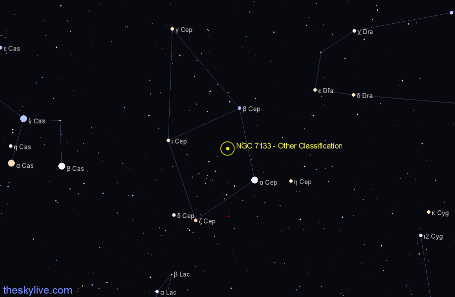 Finder chart NGC 7133 - Other Classification star