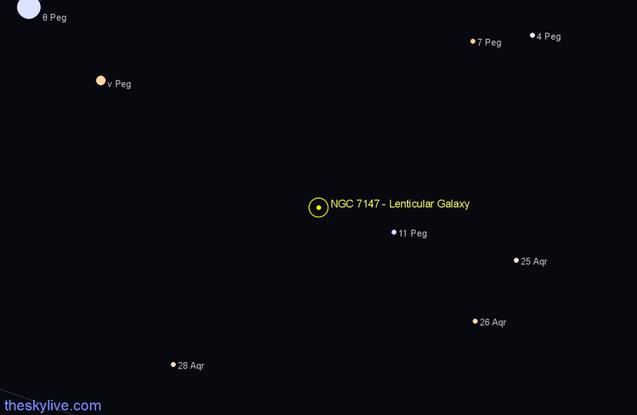 Finder chart NGC 7147 - Lenticular Galaxy star