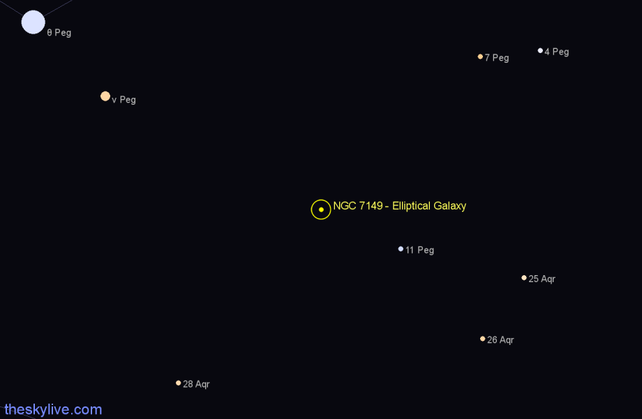 Finder chart NGC 7149 - Elliptical Galaxy star