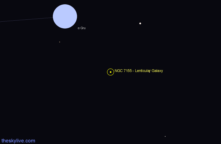 Finder chart NGC 7155 - Lenticular Galaxy star