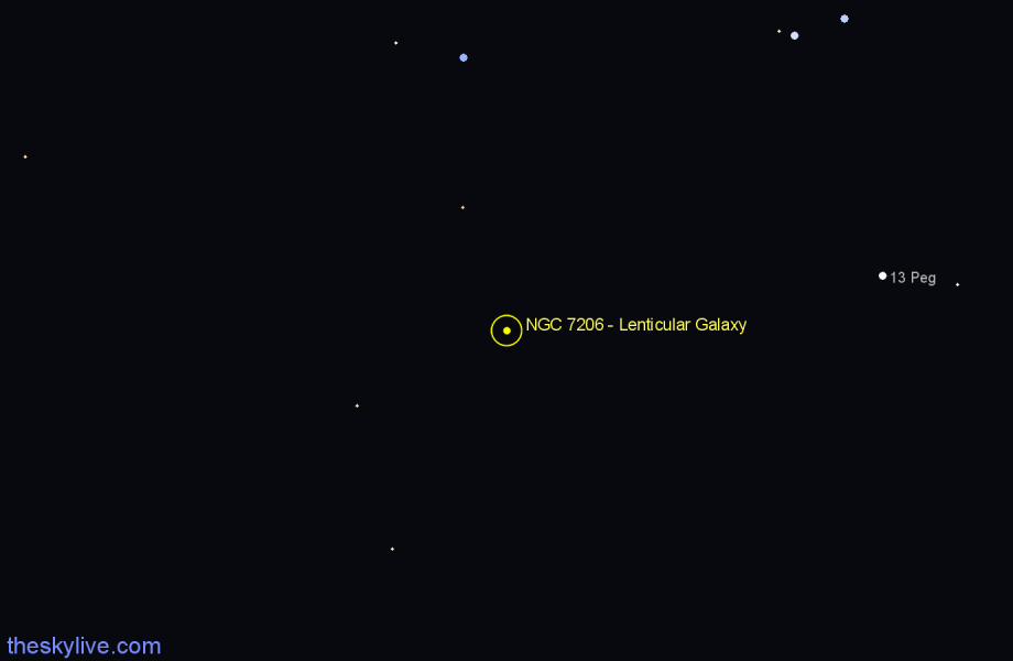 Finder chart NGC 7206 - Lenticular Galaxy star