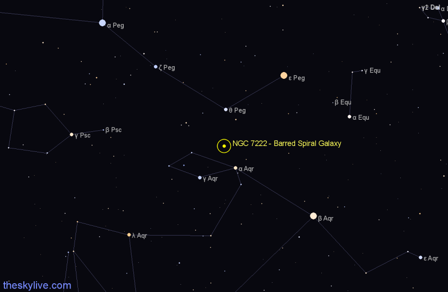 Finder chart NGC 7222 - Barred Spiral Galaxy star