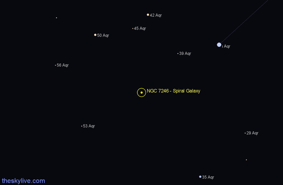 Finder chart NGC 7246 - Spiral Galaxy in Aquarius star